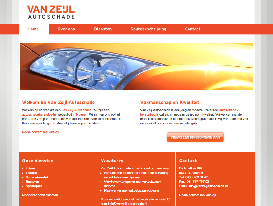 Project: Vanzeijle autoschade